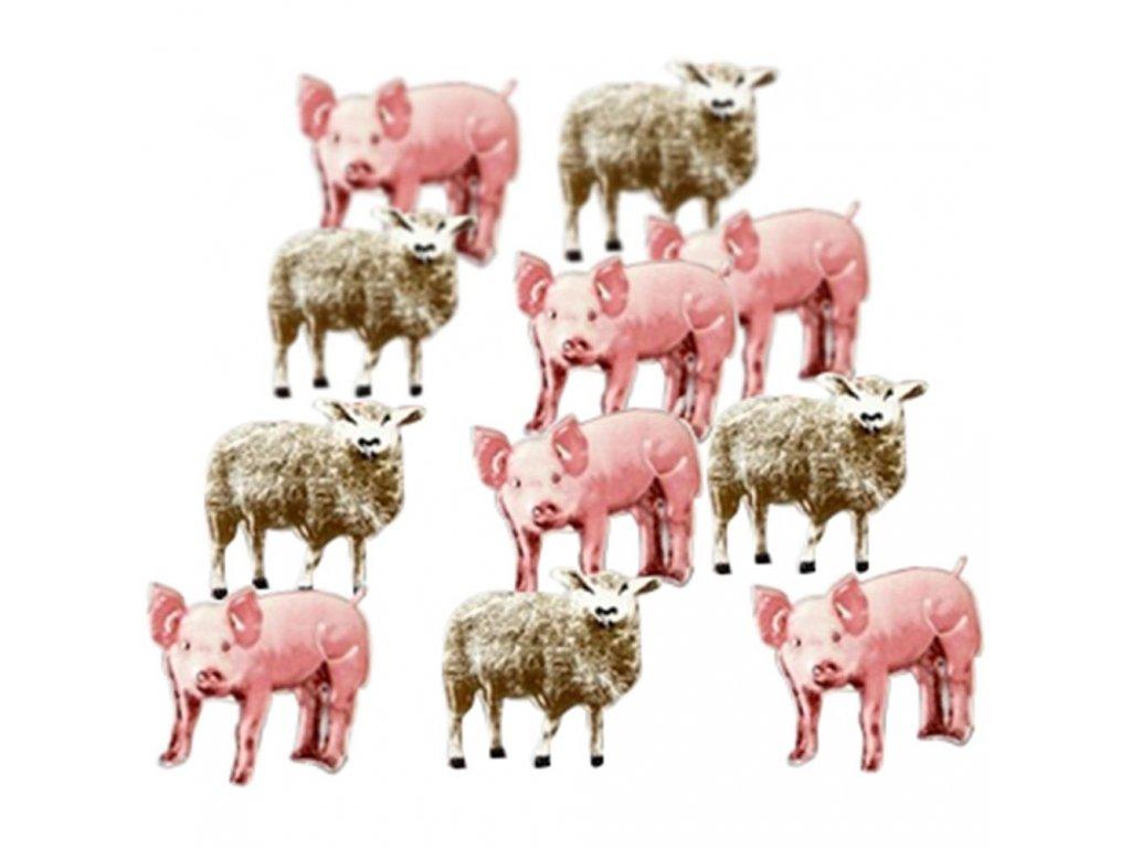 Eyelet Outlet - PIG&SHEEP - brads, 12 ks