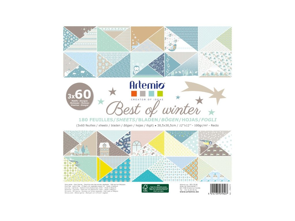 assortiment 30x30 artemio best of winter qte 180