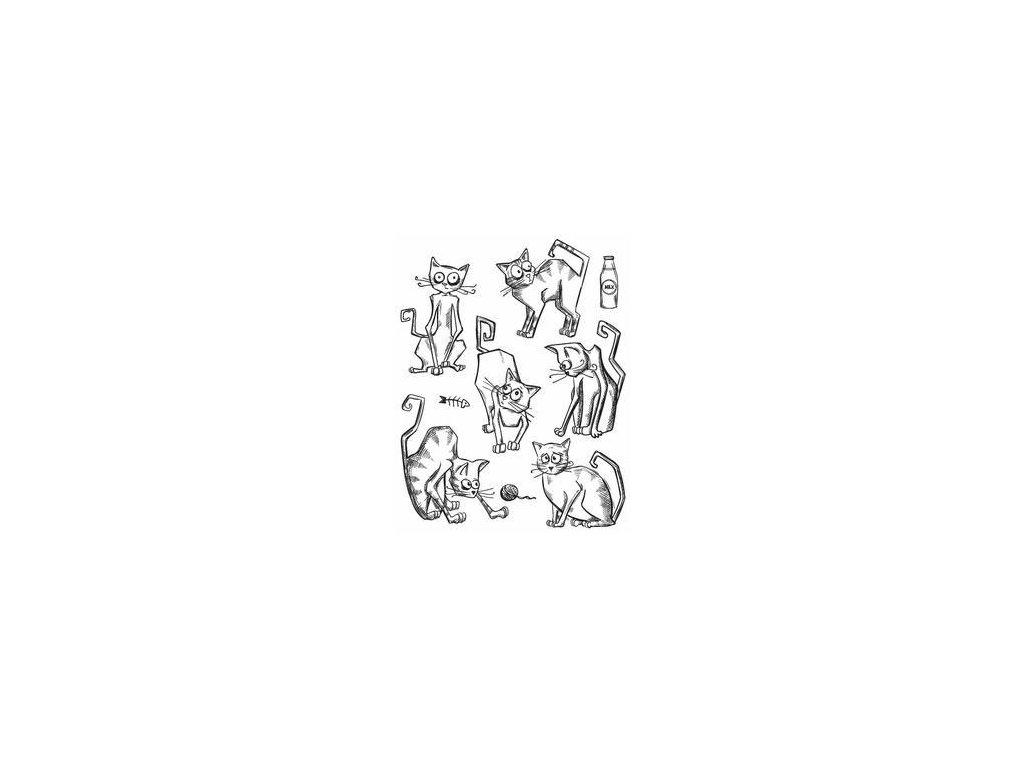 Stampers anonymous / Tim Holtz - CRAZY CAT - cling gumová razítka