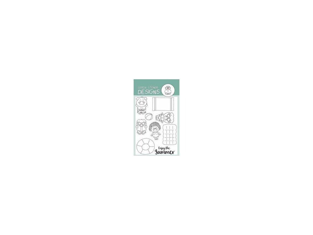 Gerda Steiner Designs Clear Stamps Pool Piggies GSD601 image1 39219.1496726136.250.250