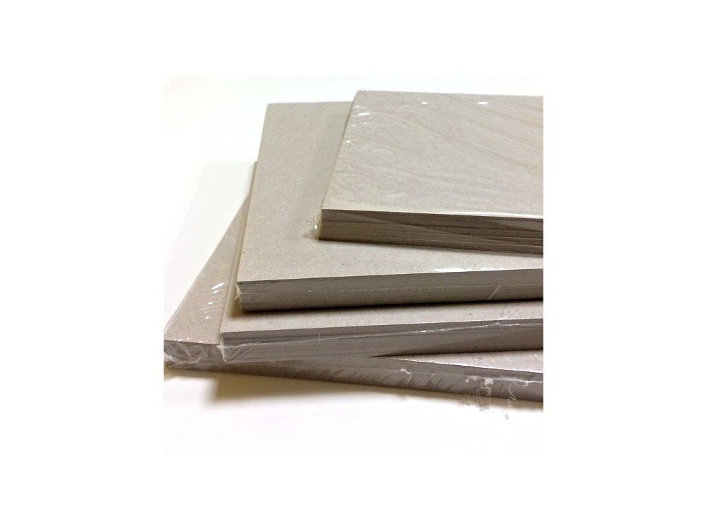 Šedá lepenka / kartony / 1,5 mm - 10 ks - A4 21 x 29,8 cm  / tl. 1,5 mm... vhodné na desky alba