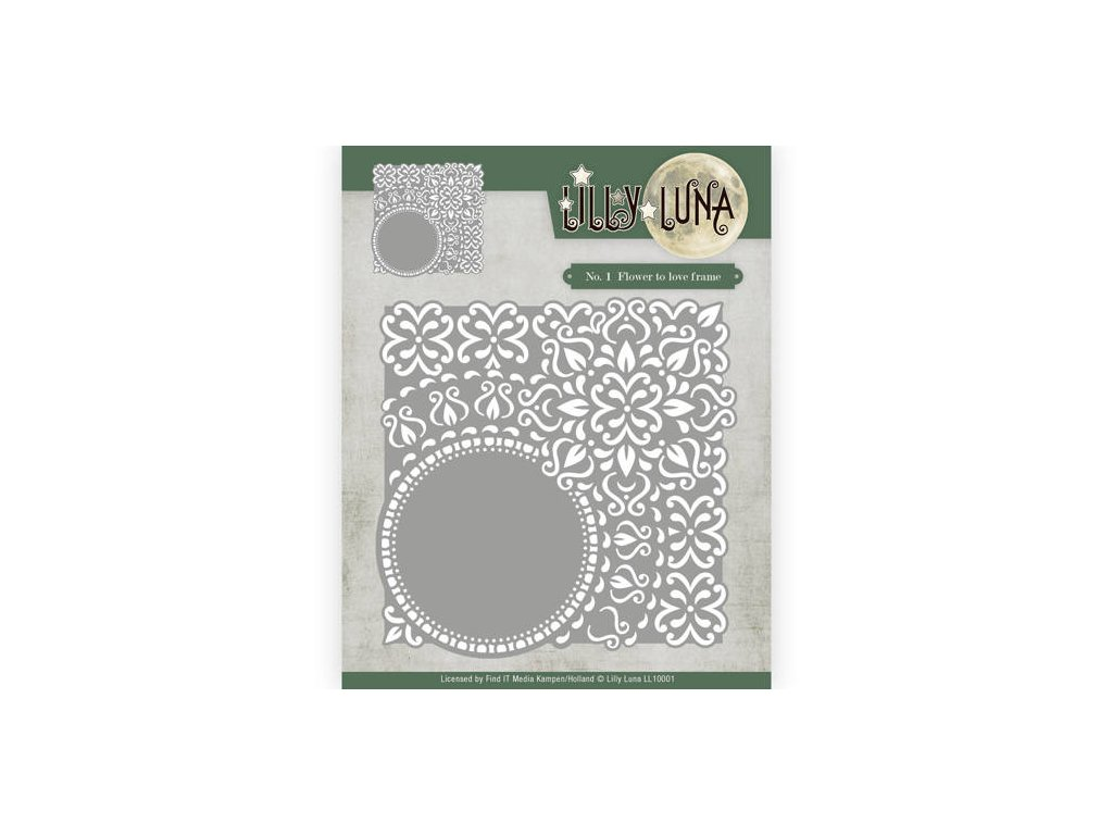 Lilly Luna - FLOWER TO LOVE FRAME -  kovové vyřezávací šablony