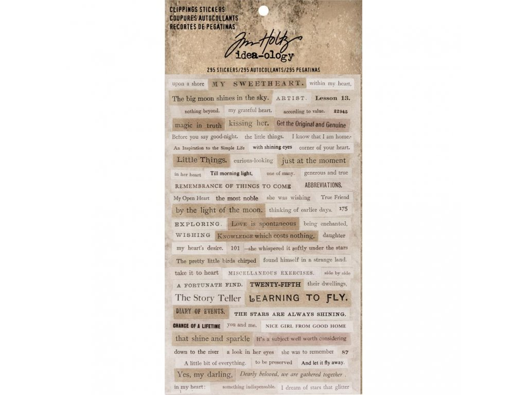 Tim Holtz - CLIPPINGS STICKERS - samolepky