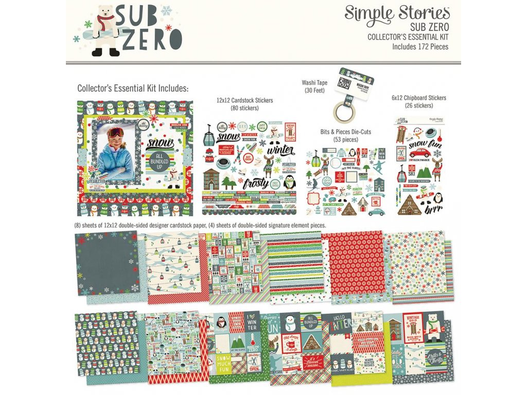 "Simple Stories - SUB ZERO - 12"" XXL "" kompletní scrapbooková sada"