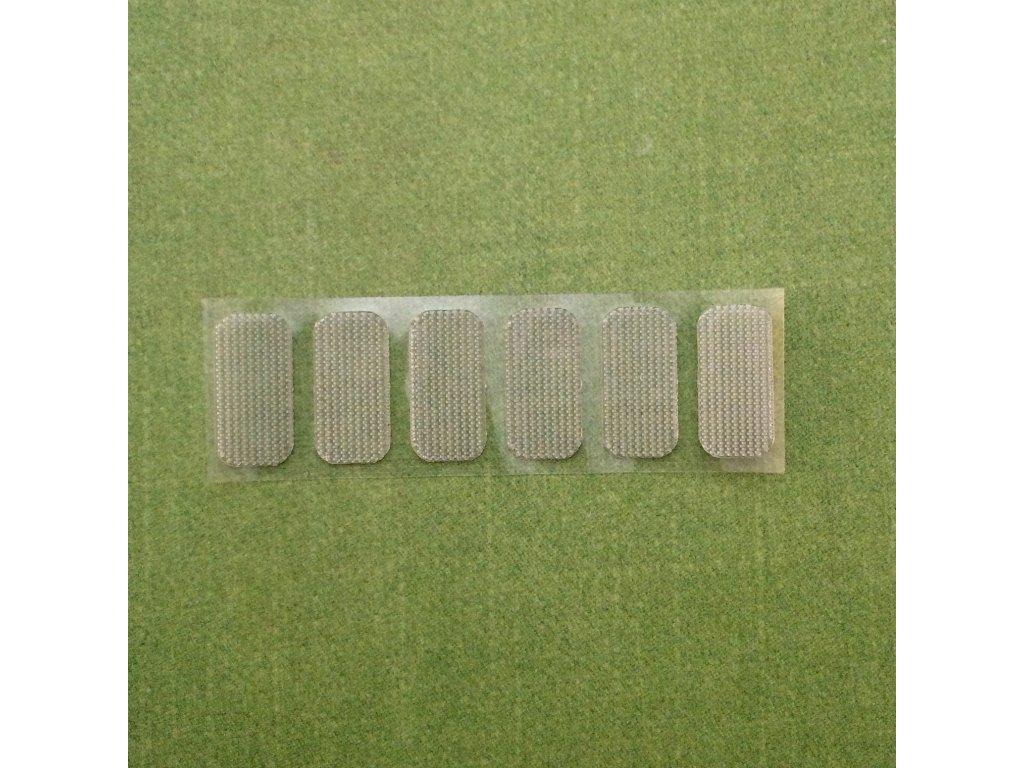 Kontaktní / suchý zip průhledný - výseky, 3 páry