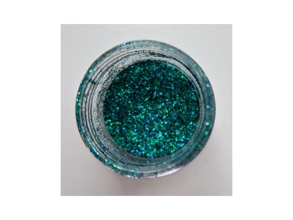 Colourcraft - GLITTER CRYSTALS / GREEN BLUE - modro zelené glitry