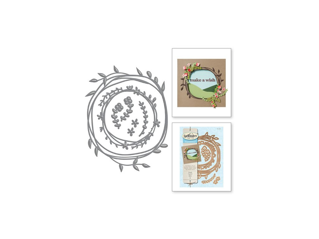 S4 572 Etched Dies Shapeabilities Woodland Wreath combo 41783.1462820588