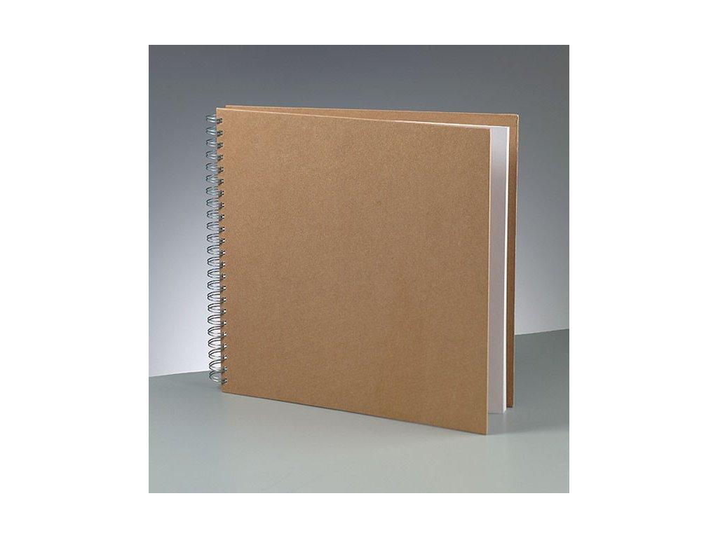 Efco - kartonové album 30 x 30 cm  pro scrapbook; 25 bílých listů