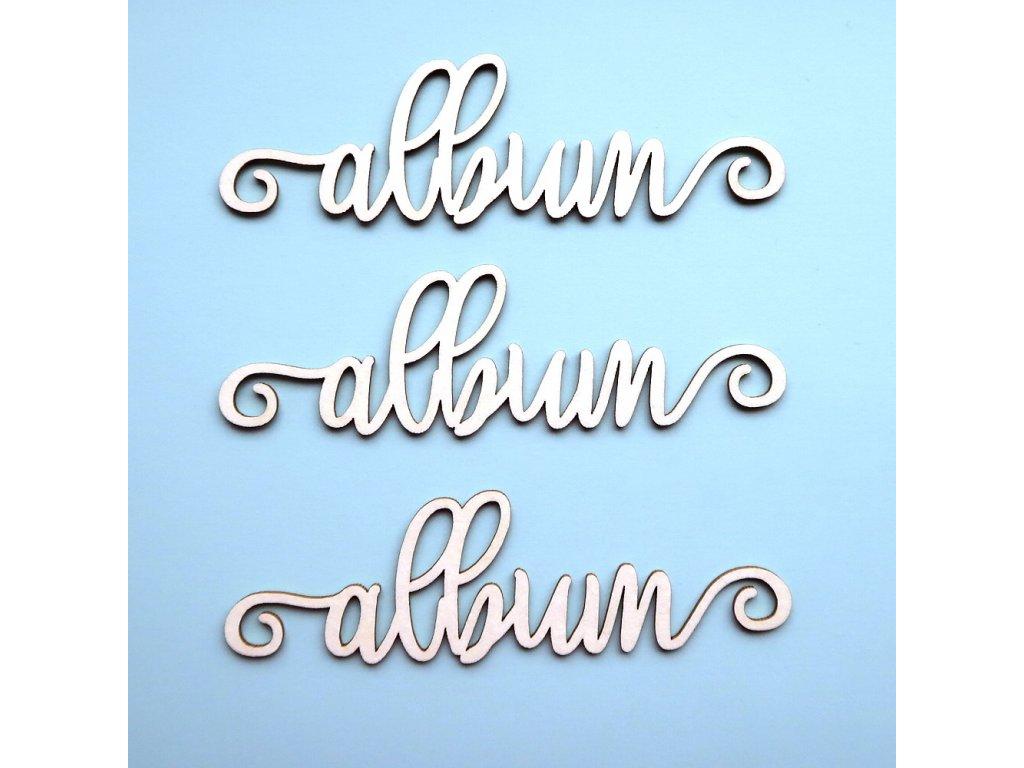Hurá Papír - kartonové výseky / ALBUM 7,3 x 2,2 cm