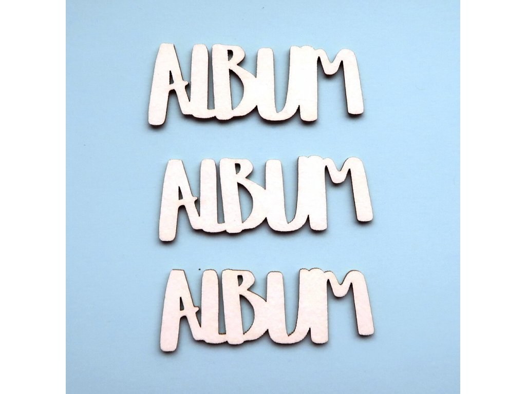 Hurá Papír - kartonové výseky / ALBUM 3,8 x 1,3 cm