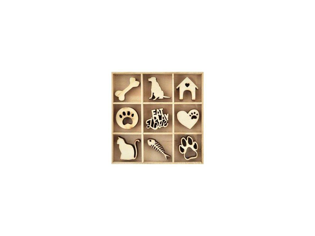 Kaisercaft - PETS - dřevěné ozdoby