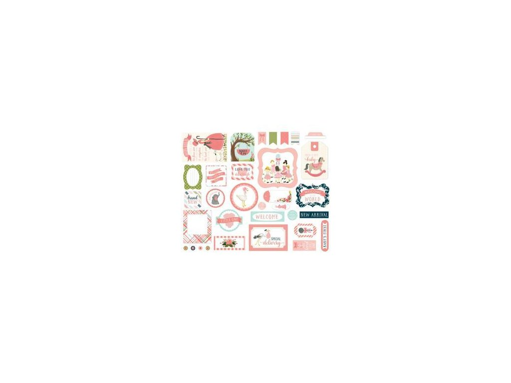 Carta Bella - ROCK-A-BYE BABY / GIRL / 1 - papírové výseky, 33 ks