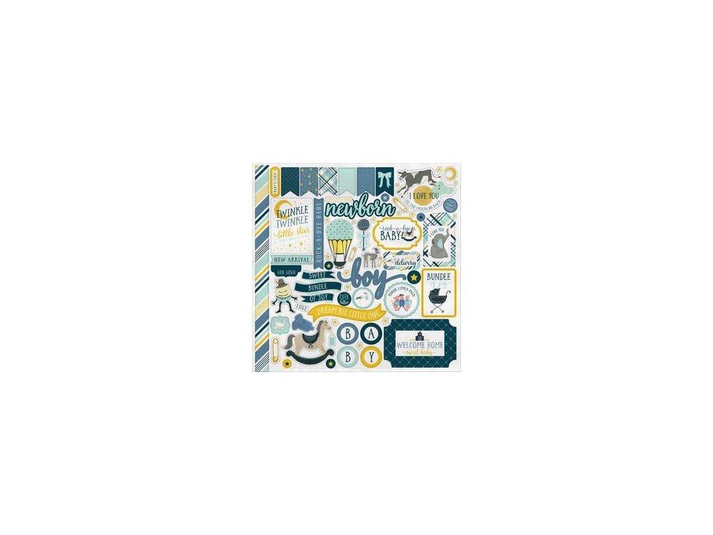 Carta Bella  - ROCK-A-BYE BABY / BOY - samolepky