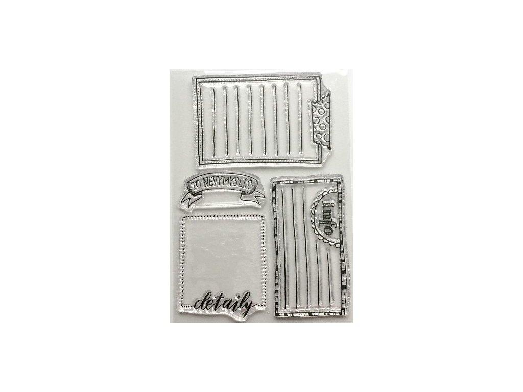 Hurá Papír - silikonová razítka - CEDULKY NA TEXTY