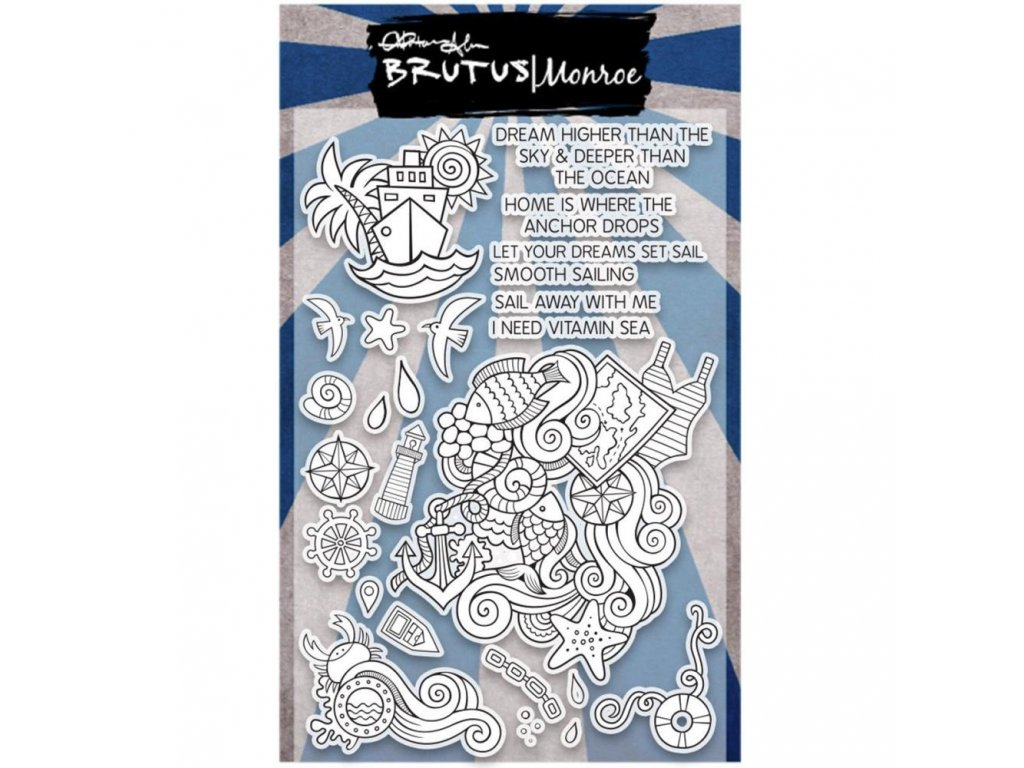 Brutus Monroe - NAUTICAL DOODLE - silikonová razítka pro scrapbook
