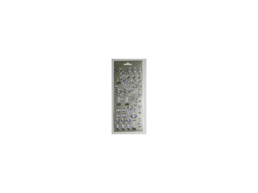 Rayher - stříbrné samolepicí kontury