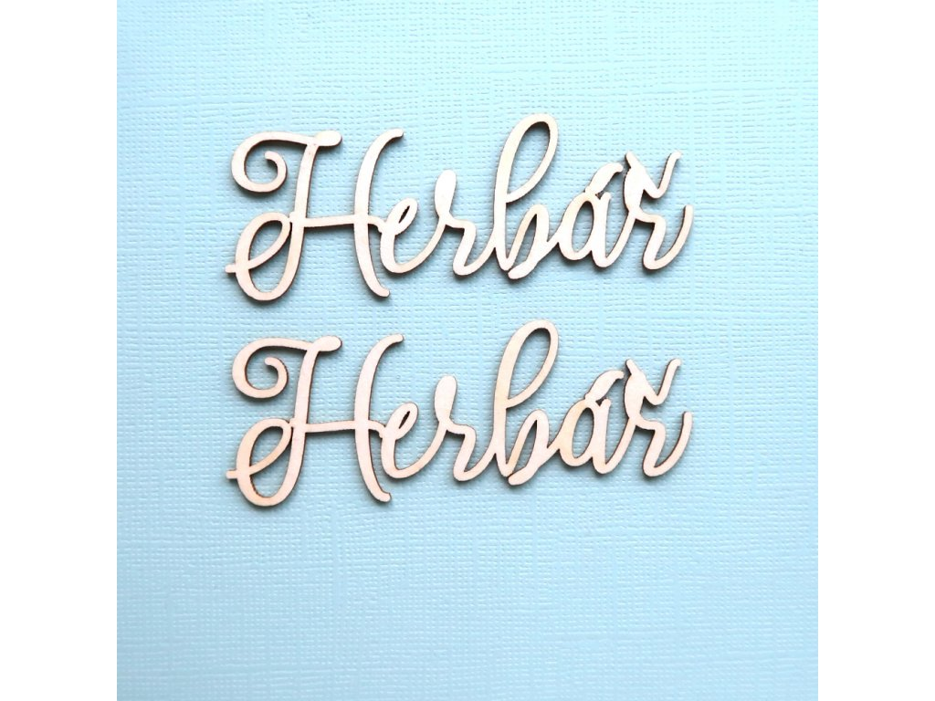 Hurá Papír - kartonové výseky / HERBÁŘ - 5,7 x 2,2 cm; 2 ks