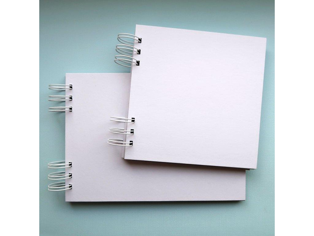 Hurá Papír - A5 / 14,8 x 21 cm -  kartonové album, bílá lepenka
