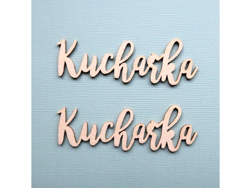 Hurá Papír - kartonové výseky / KUCHAŘKA - 7,8 x 2,1 cm; 2 ks