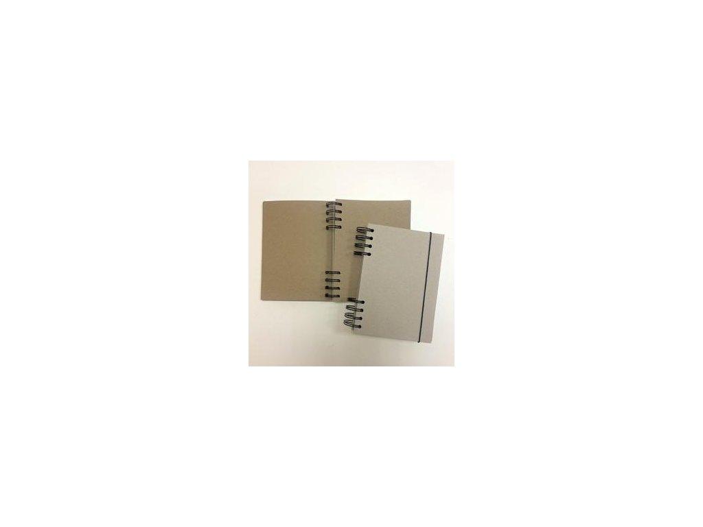 TyPa - blok A6 / V s gumičkou - na dotvoření, vnitřní kraft listy
