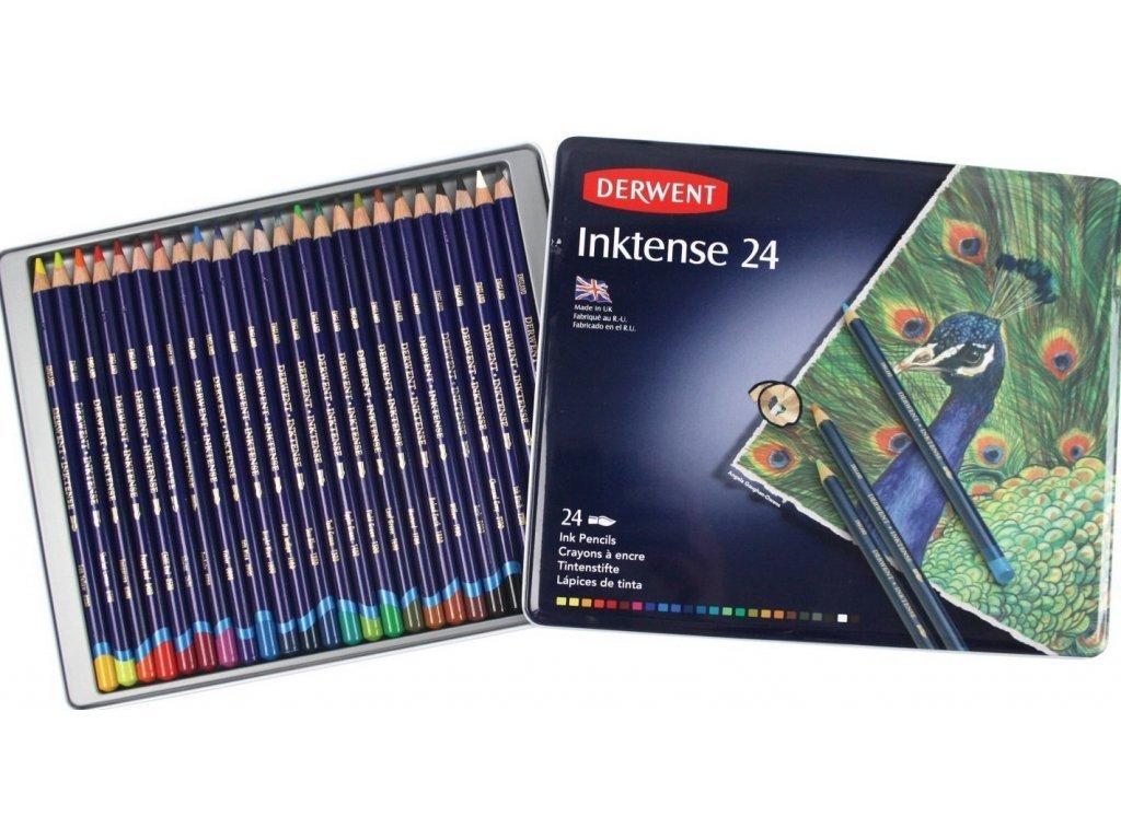 Derwent - INKTENSE -  akvarelové pastelky, 24 ks