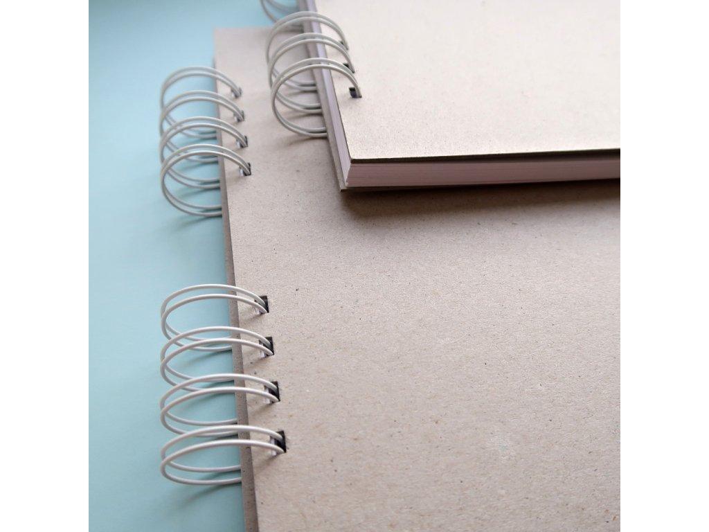 Hurá Papír - A4 / 29,8 x 21  cm -  album, deník, blok; bílé listy