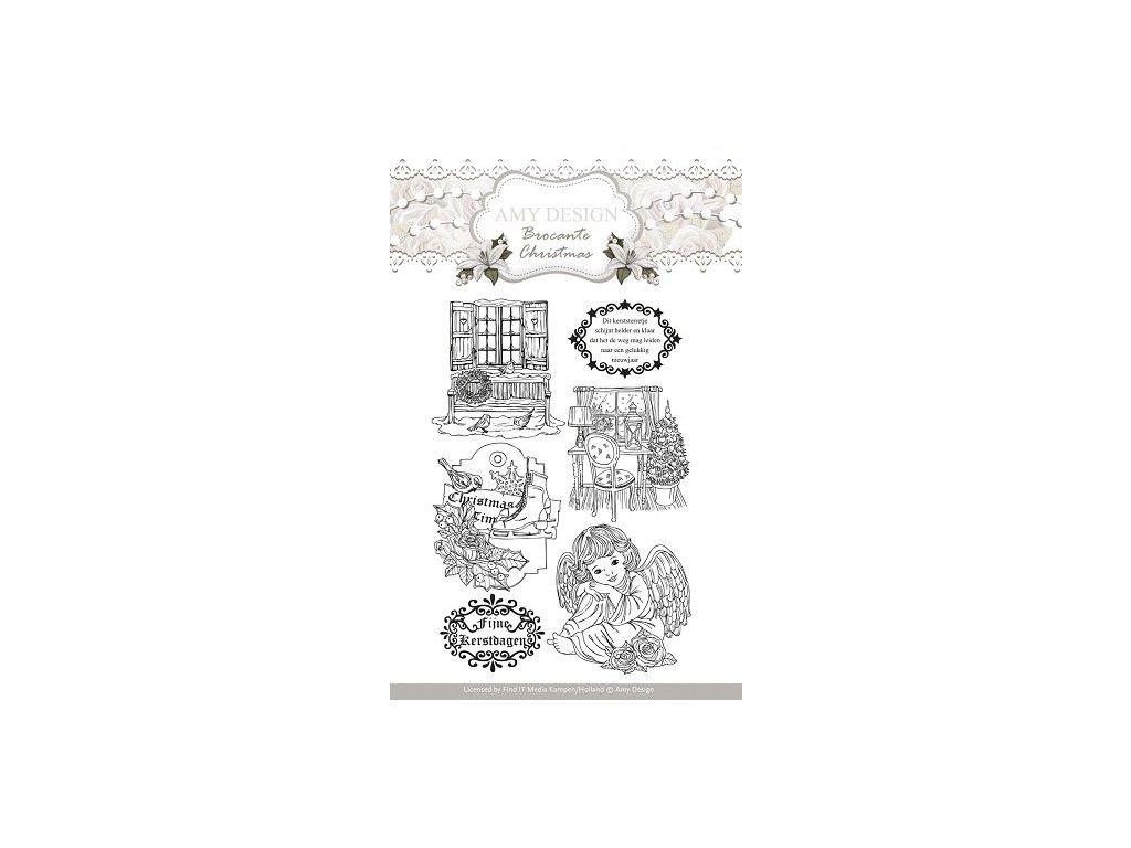 Amy Design - BROCANTE CHRISTMAS - silikonová razítka