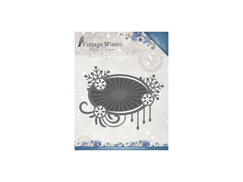 Amy Design - SNOWFLAKE SWIRL LABEL - vyřezávací šablony