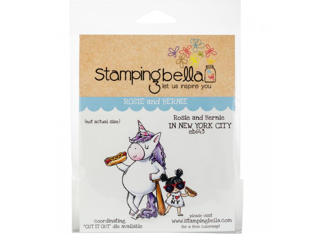 Stamping Bella - ROSIE AND BERNIE IN NEW YORK - cling gumové razítko
