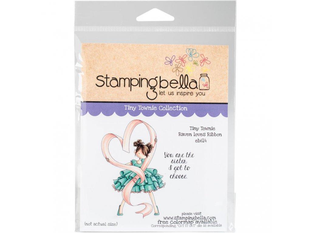 Stamping Bella - RAVEN LOVES RIBBON - cling gumové razítko