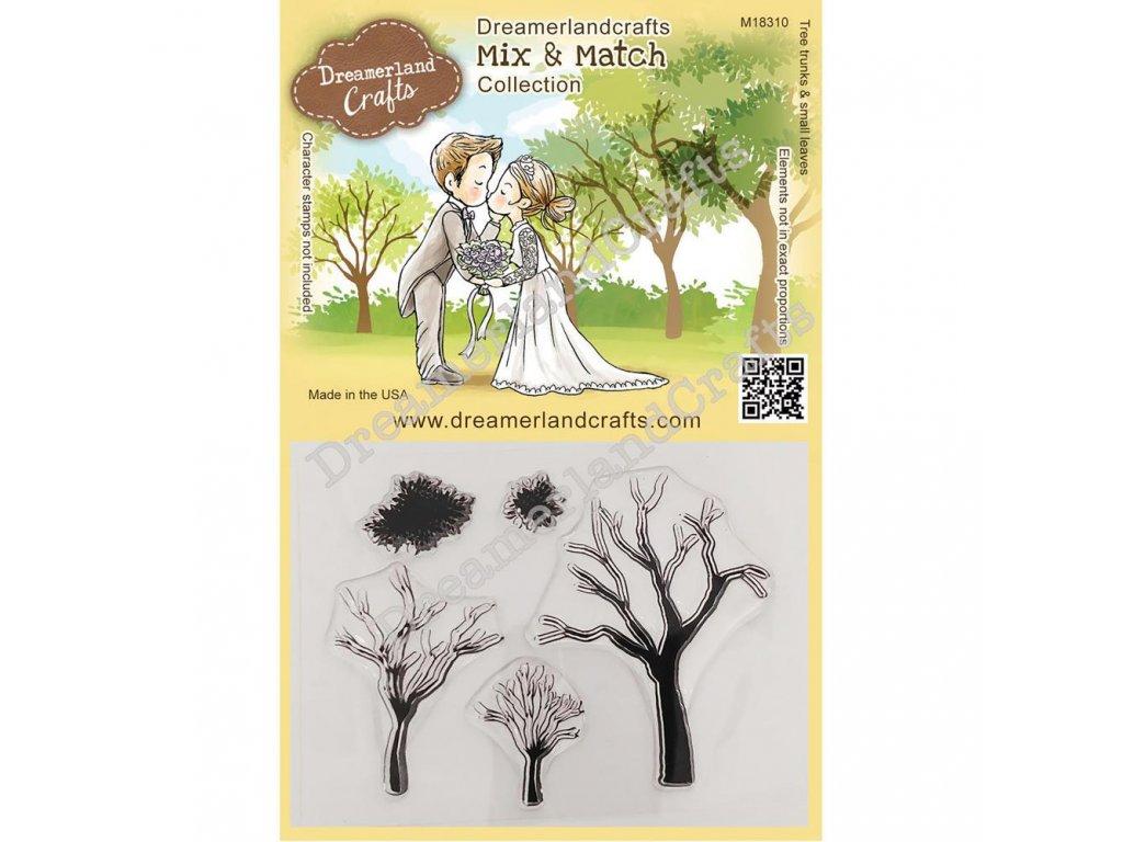Dreamerland Crafts - MIX&MATCH / TREE TRUNKS - silikonové razítko