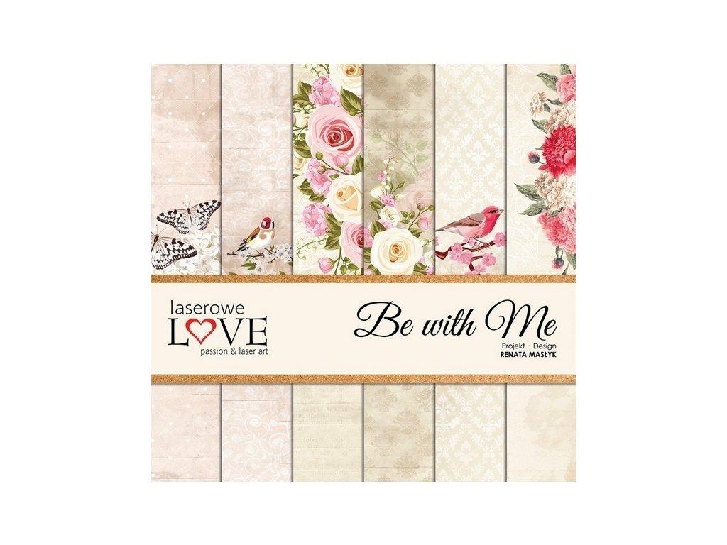"Laserowe LOVE - BE WITH ME - 12"" scrapbooková sada"