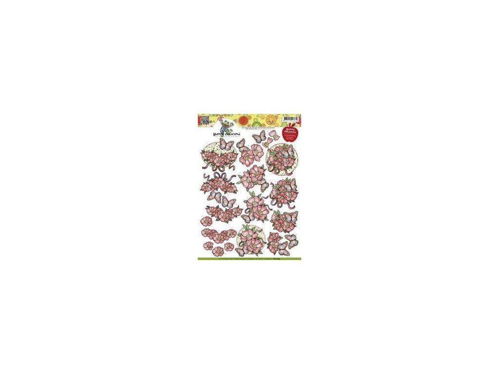 Yvonne Creations - Opkikker vlinders - A4 / motivy na vystřihování
