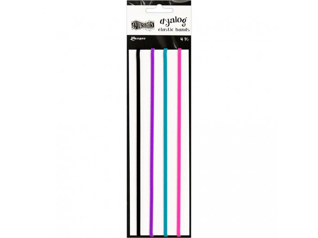 """Dylusions - DYALOG ELASTIC PACK - 4 gumičky na """"uzavření"""" deníčků"""