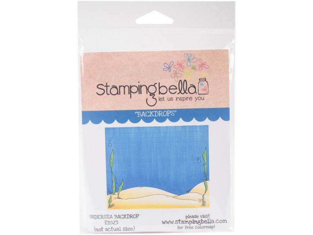Stamping Bella - UNDER THE SEA BACKDROP - cling gumové razítko