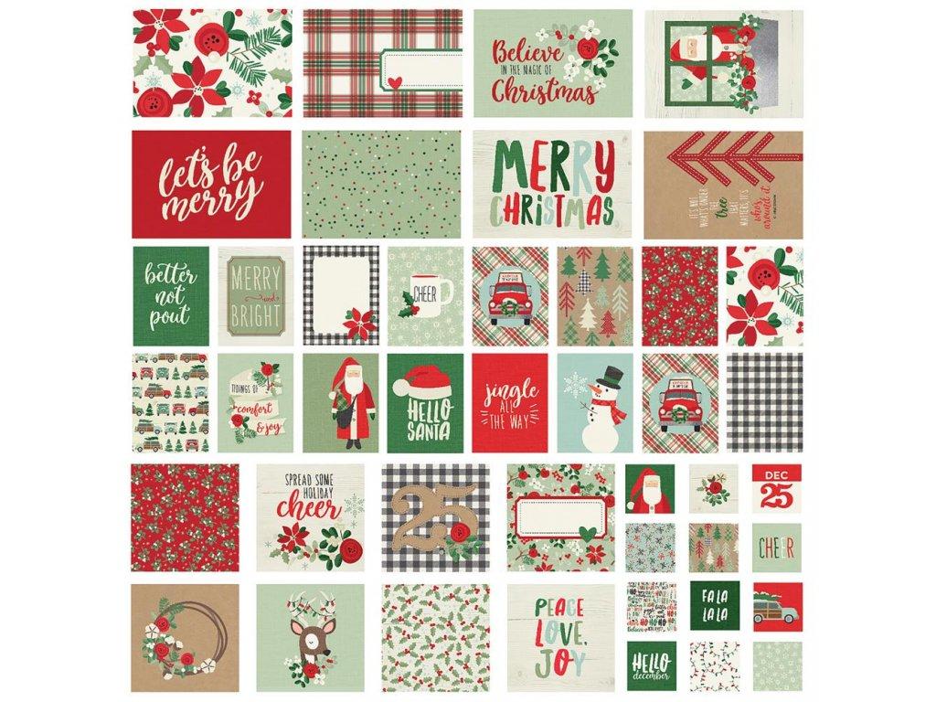 Simple Stories - MERRY & BRIGHT -  sada vánočních kartiček