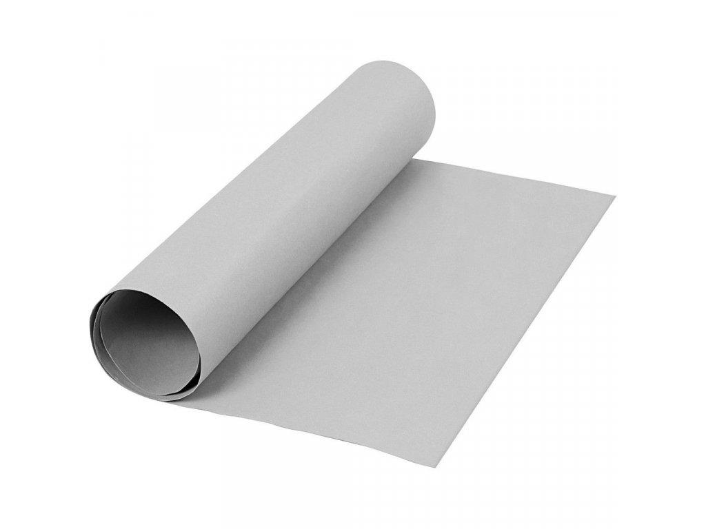 FAUX LEATHER PAPER / GREY - papír se vzhledem kůže, 50x100 cm