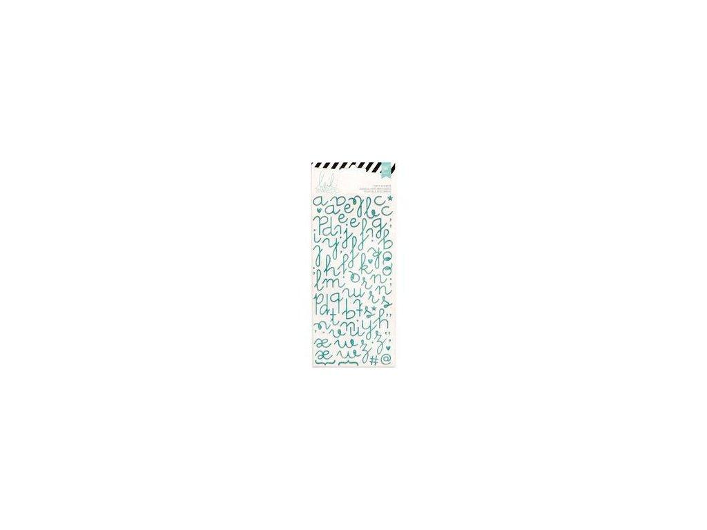 Heidi Swapp - PUFFY STICKERS / Teal Glitter  - samolepky