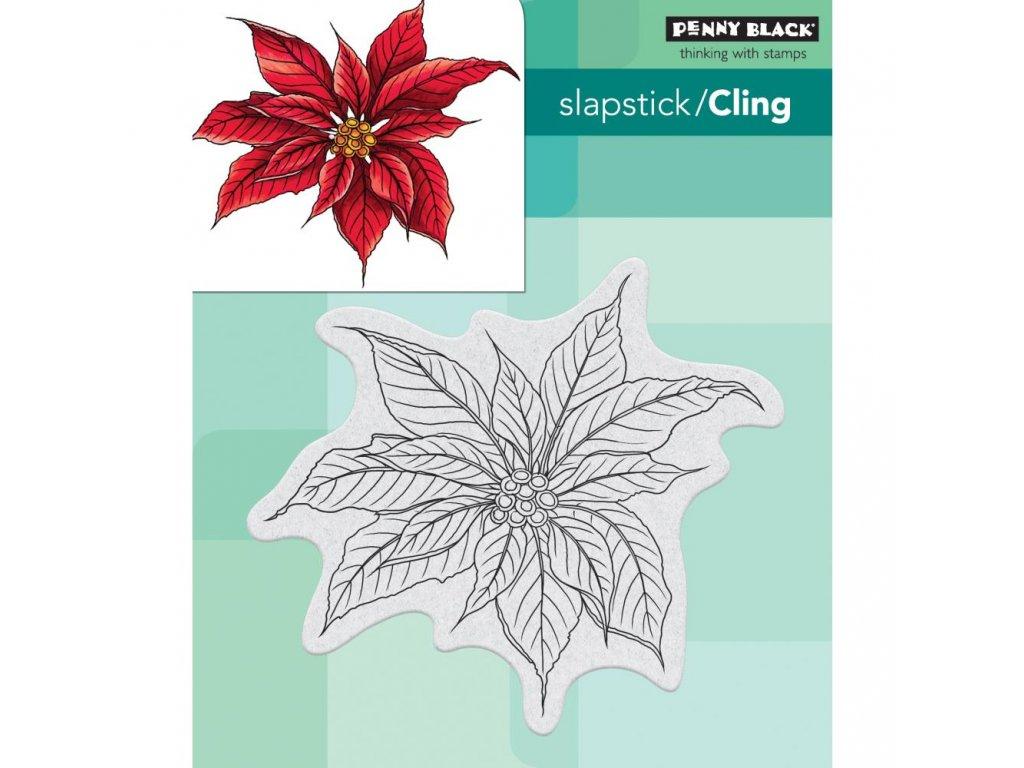 Penny Black - CHRISTMAS POINSETTIA - cling gumové razítko