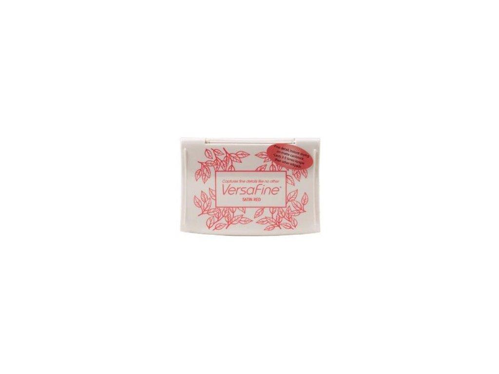 tsukineko versafine satin red pigment ink pad vf 1