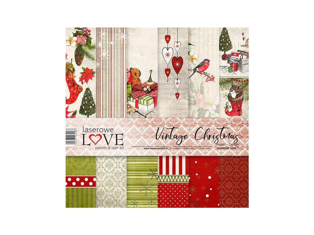 """Laserowe LOVE - VINTAGE CHRISTMAS - 12"""" vánoční scrapbooková sada (Vánoce)"""