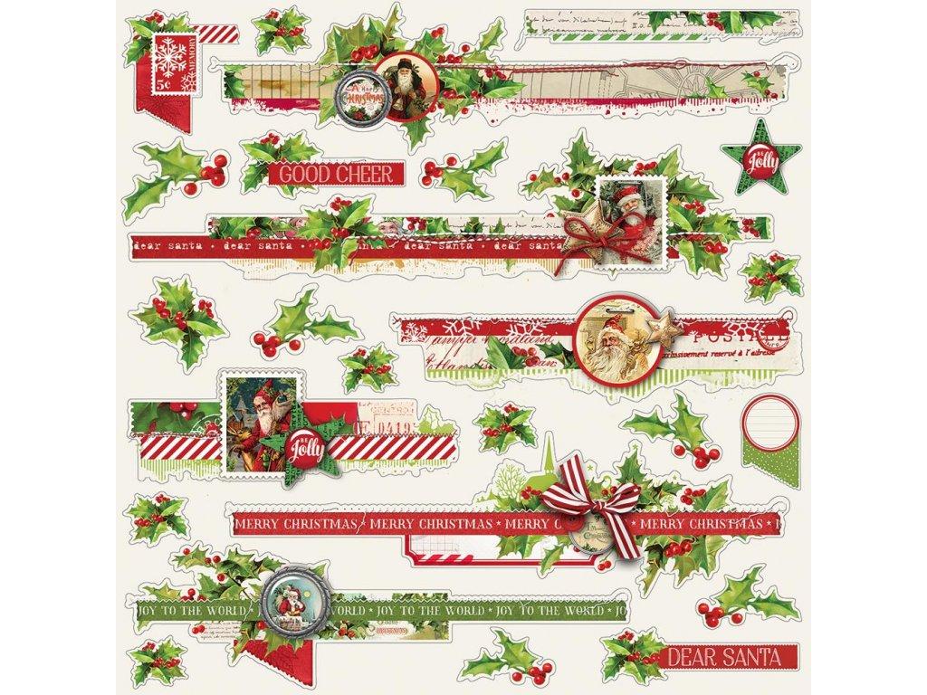 Simple Stories - SIMPLE VINTAGE CHRISTMAS - vánoční  samolepky