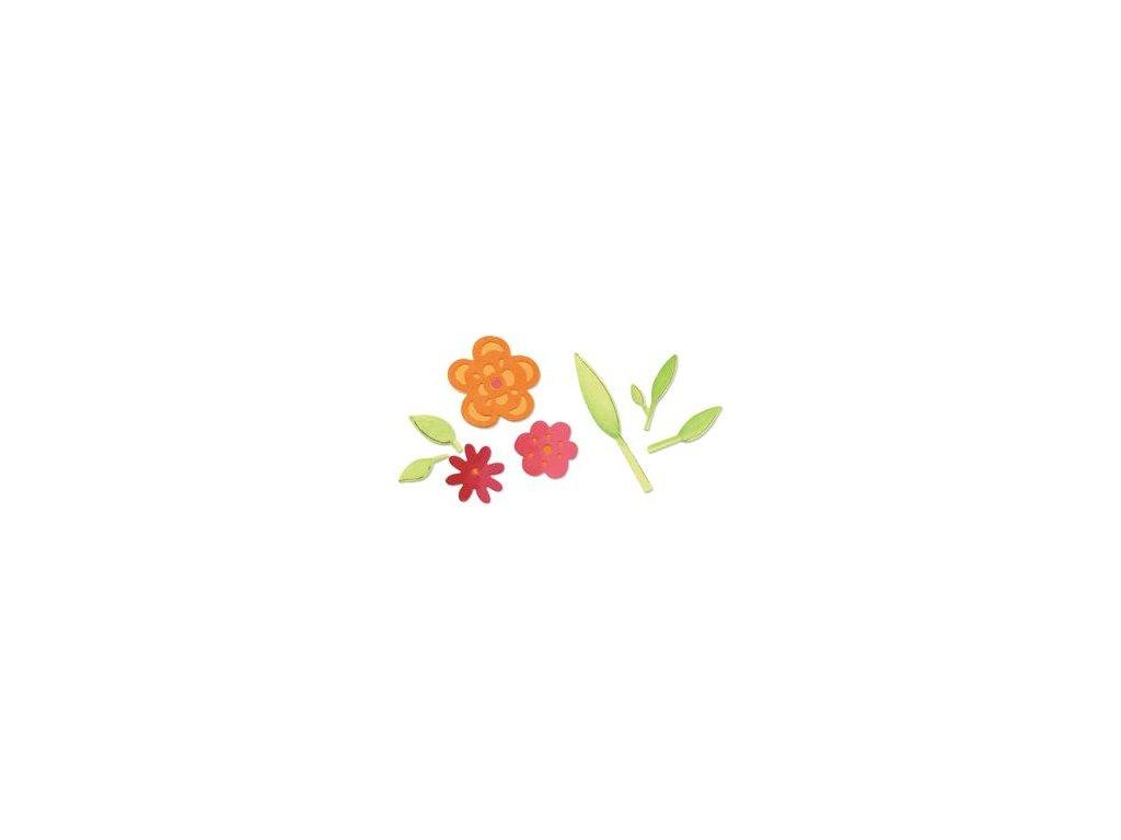 Sizzix / Sizzlits - FLOWERS SET - vyřezávací šablona