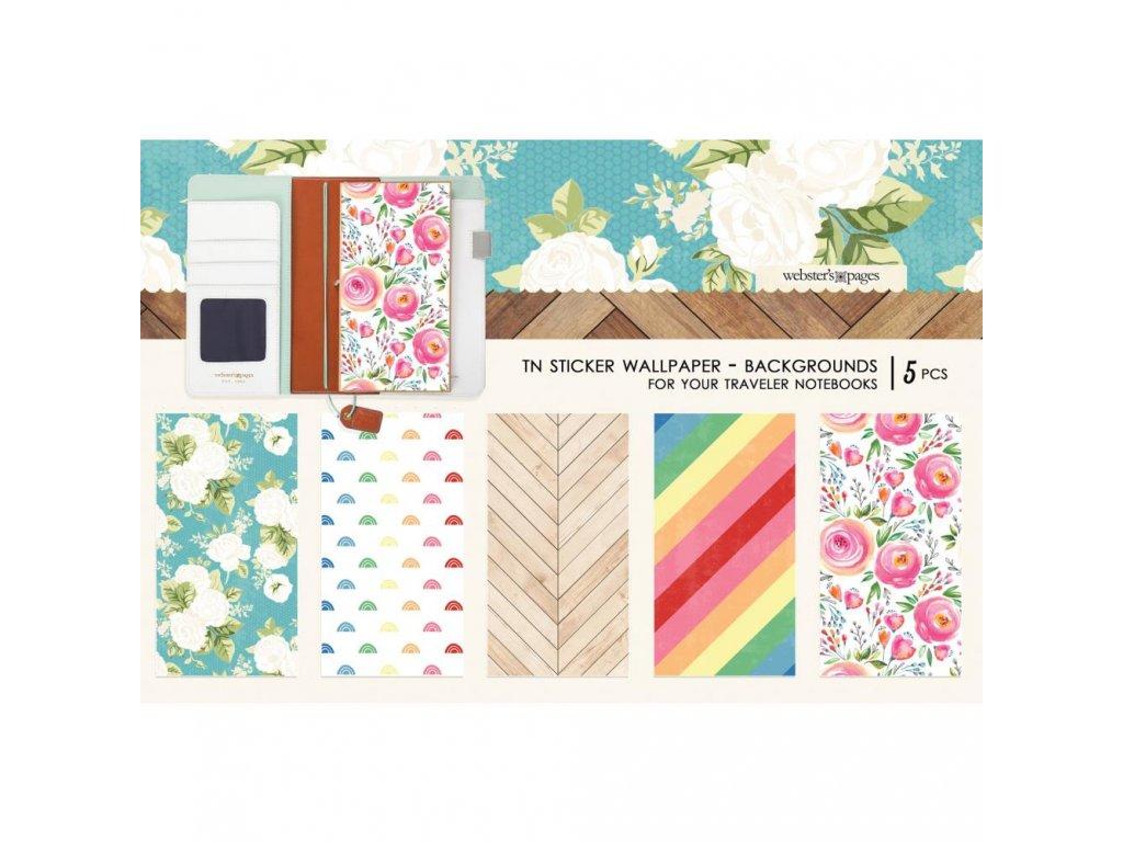 Websters Pages - Colors Background / samolepky na desky deníčků 11 x 21 cm