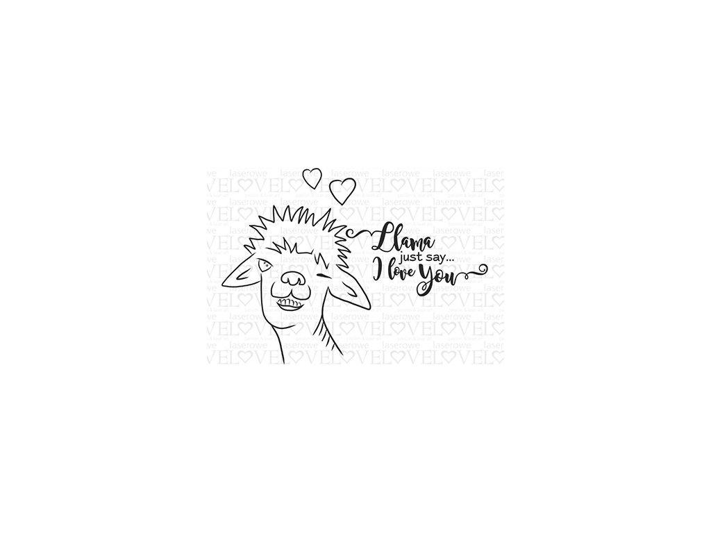 STM 18208 Just say I love you Love Llama