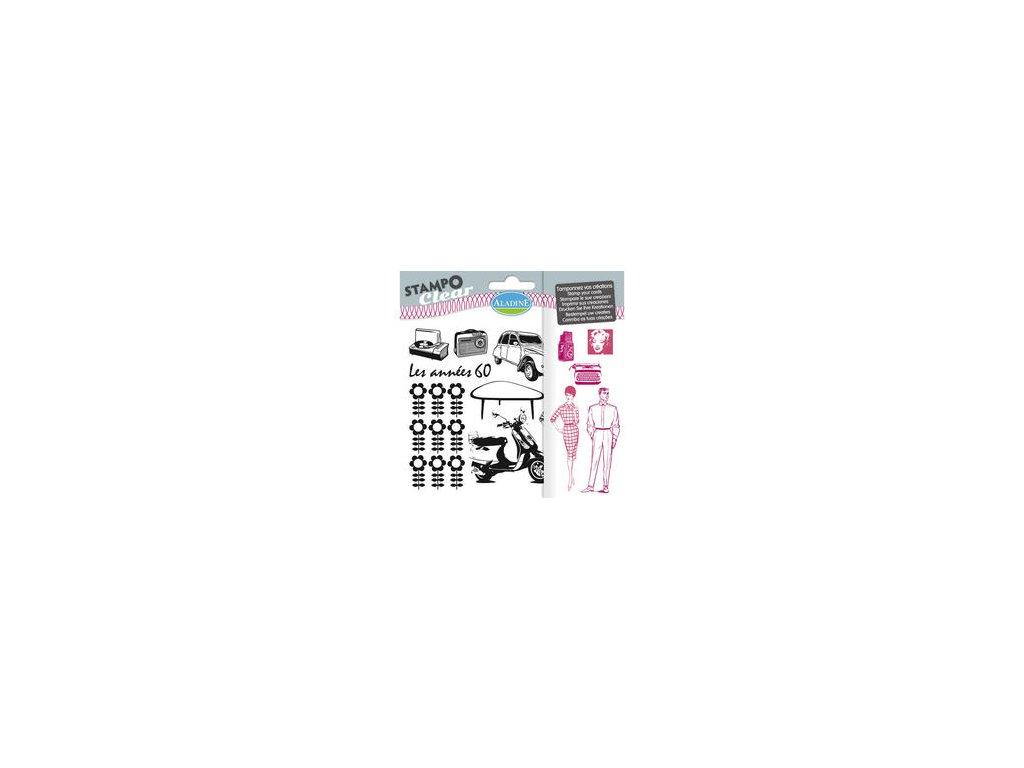 Aladine - ANNÉES 60 - silikonová razítka pro scrapbook