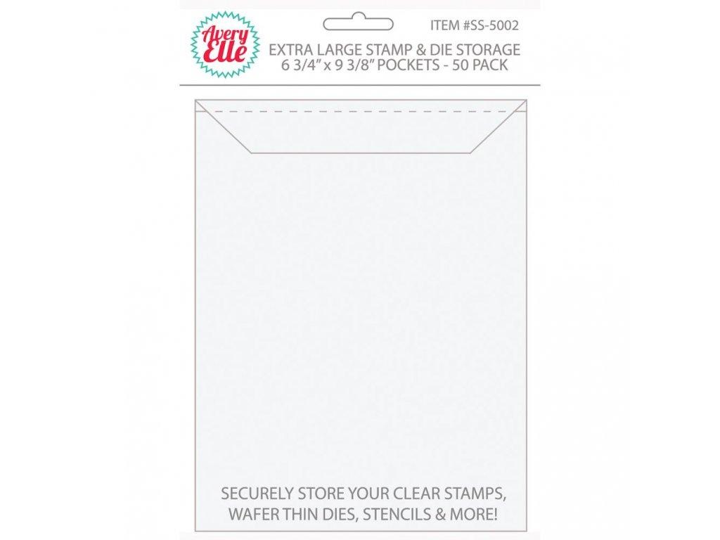 """Avery Elle - STAMP&DIE STORAGE / 6 3/4 x 9 3/8"""" - plastové obaly na razítka, 50 ks"""