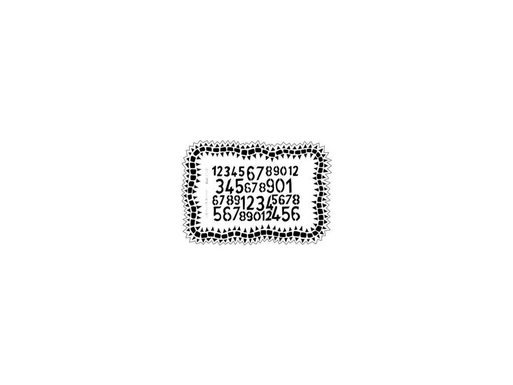 number jumble 9 x 12 stencil 8111 p