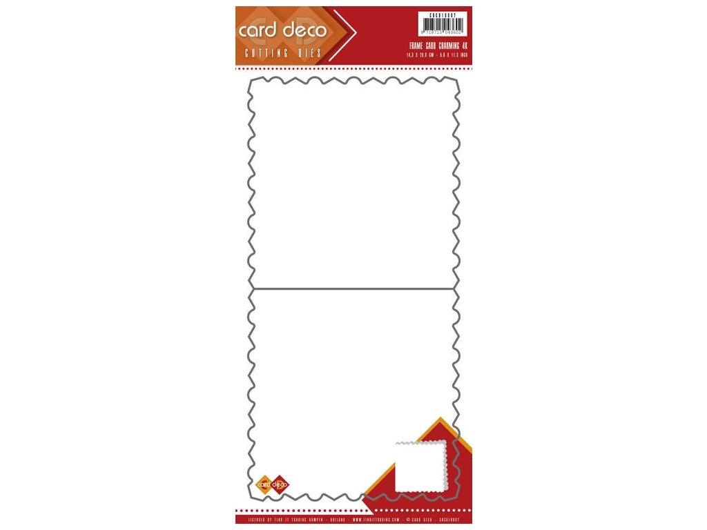 Card Deco - FRAME CARD / čtverec - vyřezávací šablona na přáníčka