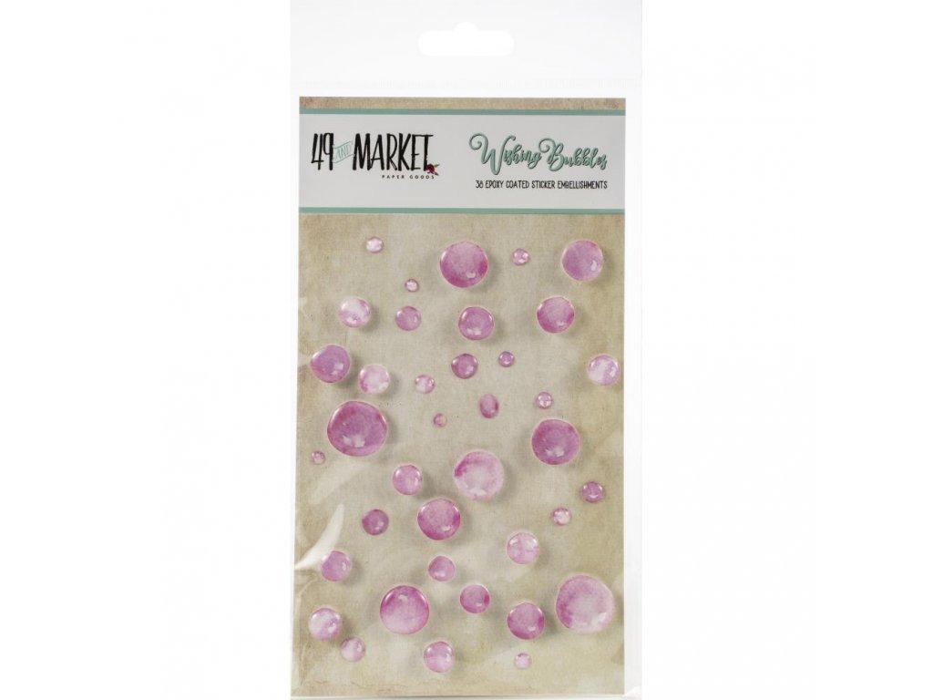 49 and Market - WISHING BUBBLES / Bubblegum - 3D kapky, samolepky